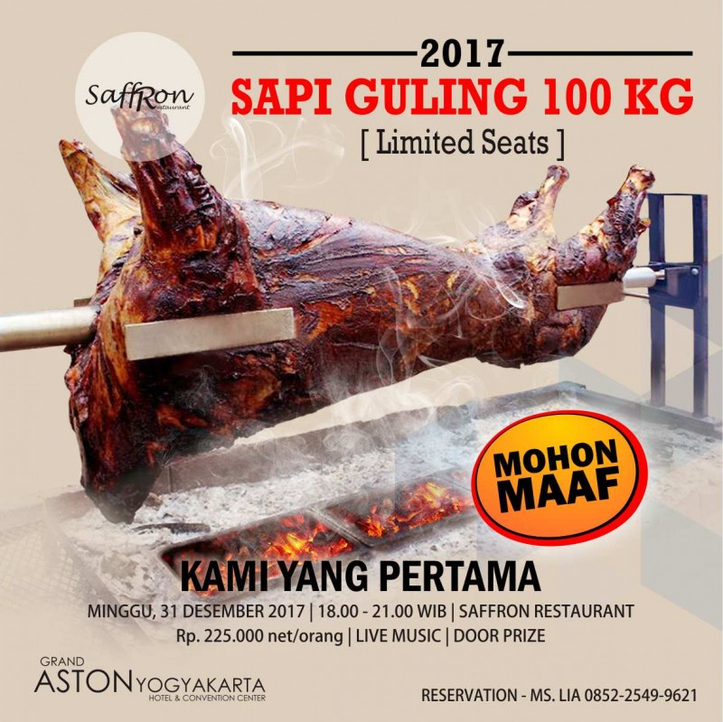 WOW! Grand Aston Jogja Masak Sapi Guling 100 Kilogram