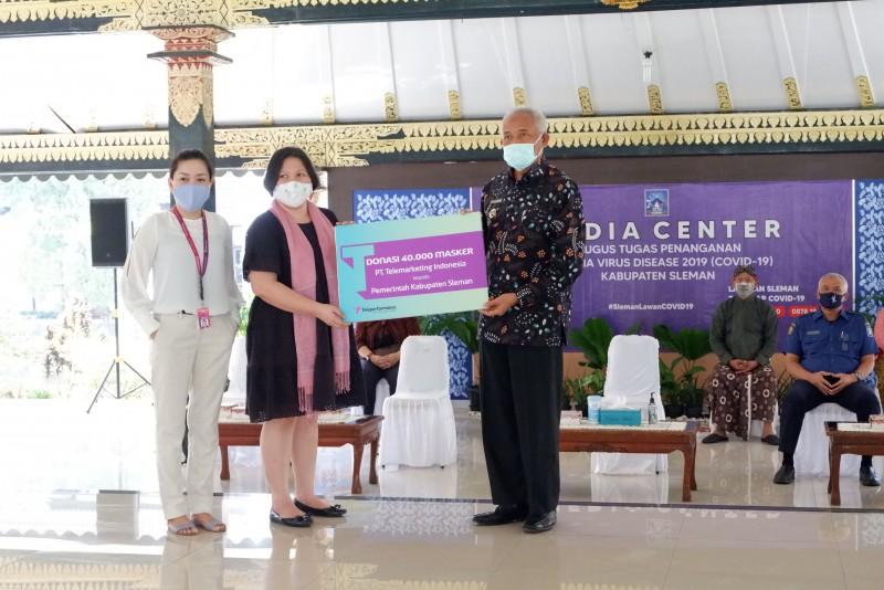 Jogja City Mall bersama Teleperformance Indonesia Salurkan Donasi Masker ke Pemerintah Kabupaten Sleman