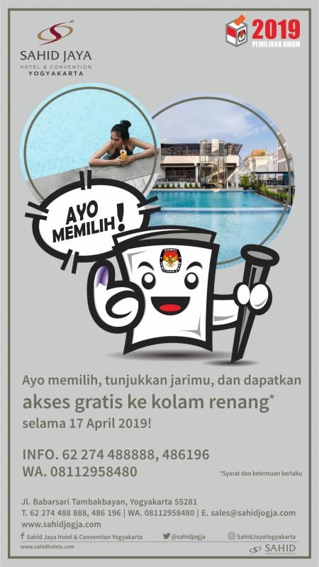 Ayo Nyoblos Dan Berenang Gratis Di Sahid Jaya Yogyakarta