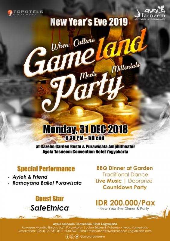 Sambut Tahun Baru, Ayola Tasneem Gelar Gameland Millenial Party