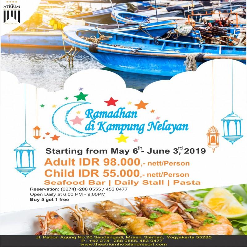 The Atrium Hotel & Resort Yogyakarta Usung Konsep Ramadhan di Kampung Nelayan