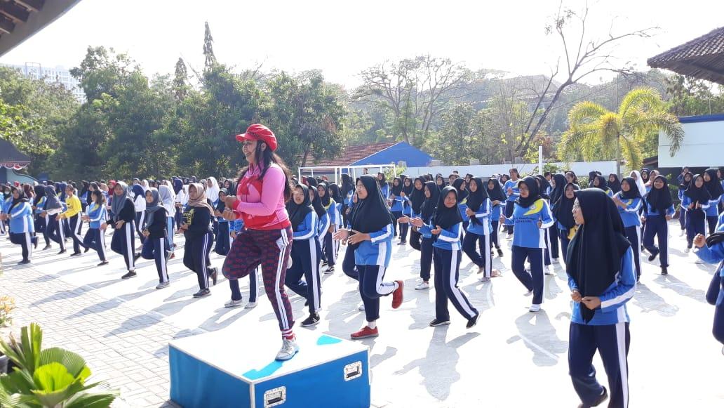 Ratusan Siswa SMK Kesehatan Binatama Yogyakarta Semarakkan Peringatan HAORNAS 2019