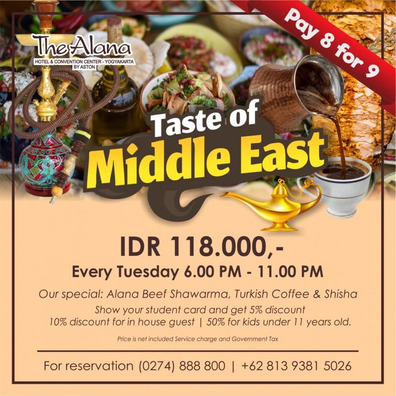 Wisata Kuliner Timur Tengah di The Alana Yogyakarta