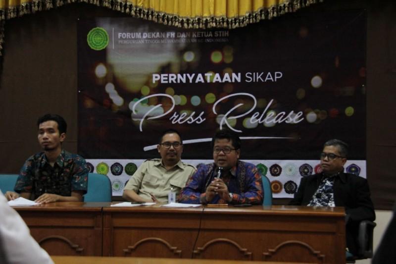 Fordek Hukum PTM se-Indonesia Serukan Dukungan Bagi Pengunduran Diri Ketua MK