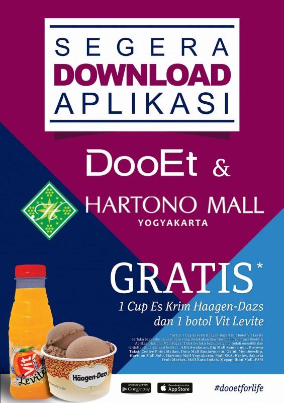 Hartono Mall & Bank QNB Bagi Haagen-Dazs Gratis