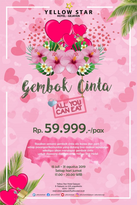 Promo All You Can Eat Gembok Cinta Yellow Star Hotel Gejayan