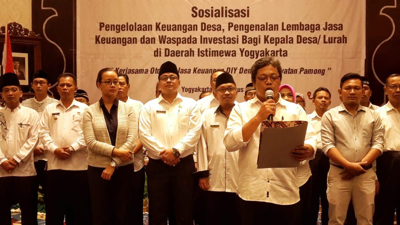 OJK DIY Gelar Sosialisasi Pengelolaan Keuangan Desa Bagi Kepala Desa/ Lurah Di Wilayah DIY