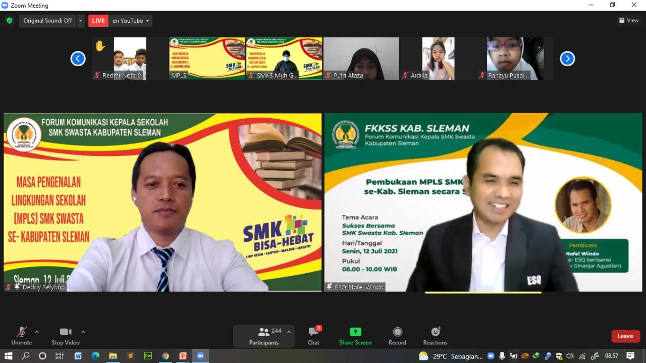Ribuan Siswa SMK Se-Sleman Mengikuti MPLS Secara Virtual