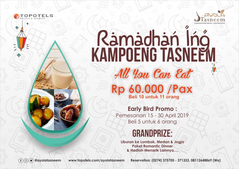Ramadhan ing Kampoeng Tasneem Persembahkan Berbagai Menu Nusantara