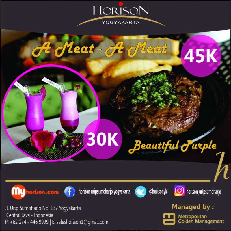 Horison Yogyakarta menghadirkan A Meat – A Meat