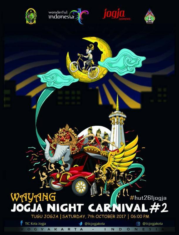 Wayang Jogja Night Carnival #2 Warnai HUT Kota Jogja Ke-261